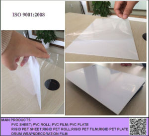 0.5mm Thickness Glossy White PVC Sheet pictures & photos