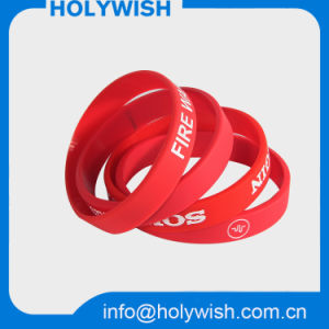 Cheap Custom Design Recycled Silicone Wristband for Sale pictures & photos
