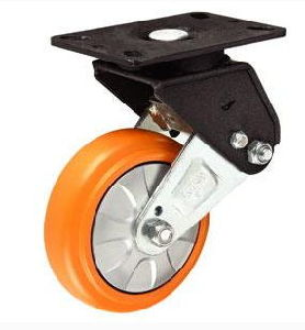 Orange Color PU Swivel Caster Wheel pictures & photos