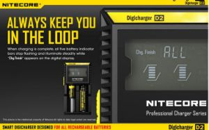 2016 Hot Selling New Products Nitecore D2 Chargers for Battery 18650 Nitecore pictures & photos