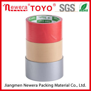 Sigle Sided Red Fibre Cloth Adhesive Rubber Duct Tape pictures & photos