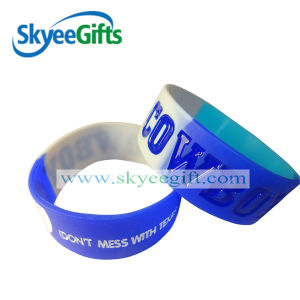 Debossed Filled 1 Inch Silicone Bracelets pictures & photos