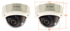 Dome Security Camera 1080P 2MP CCTV Camera with CE FCC RoHS P2p IP Camera with Poe Options pictures & photos