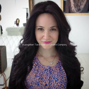 #1b Unprocessed 7A Human India Hair Front Lace Wigs