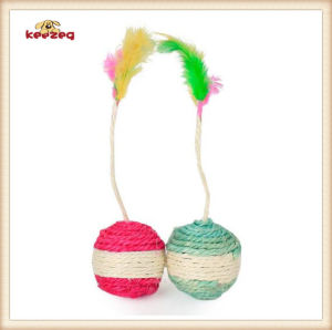 Pet Product Colorful Shuttlecock Ball Cat Toy (KB3015) pictures & photos