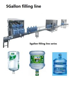Automatic 5 Gallon Barrel Drinking Water Bottling Filling Plant for 450bph pictures & photos