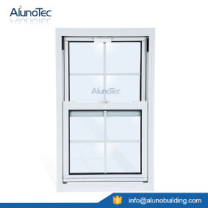 Aluminium Single Hung Window with Tempered Clear Glass pictures & photos