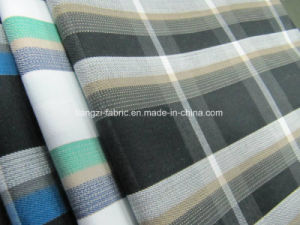 CVC Yarn Dyed Twill Check Fabric for Shirts pictures & photos
