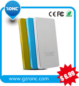 Hot Credit Card 3000mAh Portable Power Bank with Built in Cable pictures & photos