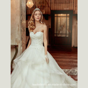 Lace Tulle Bridal Ball Gowns Sweetheart Organza 2017 Wedding Dresses A9258 pictures & photos