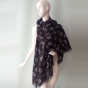 48s Polyester Cotton Voile Scarf for Women