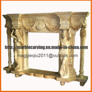 Female Statue Marble Fireplace Mantel Mf1724 pictures & photos