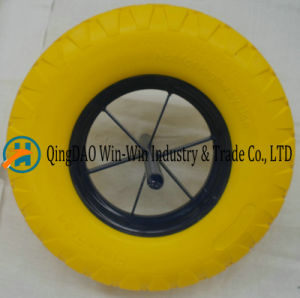 16*4.80/4.00-8 PU Wheel for Wheelbarrow pictures & photos