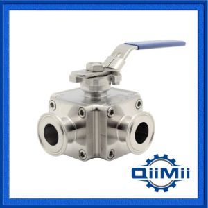 China Manufacturer Sanitary Stainless Steel Three Way Ball Valve pictures & photos