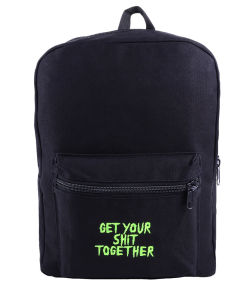 16oz Cotton with TDS 210d Lining Embroider Logo Backpack Schoolbag pictures & photos