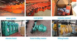 Indoor Lifting Equipment Industry Hoist Service Provided Motor Bridge Crane 5 Ton pictures & photos