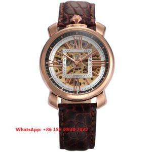 Special Designing Automatic Men′s Watches with Genuine Leather Strap Fs649 pictures & photos