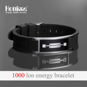 Popular Silicone Wristband for Unisex with Negative Ion Rubber Band pictures & photos