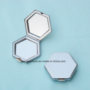 Customized Pentagon Mirror Double Side Pocket Metal Makeup Mirror BPS0218