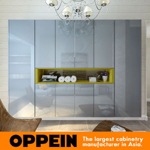 Oppein Modern Glossy Lacquer Hinged Wardrobe (YG16-L02) pictures & photos