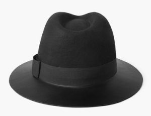 PU Visor Wool Fedora Hat pictures & photos