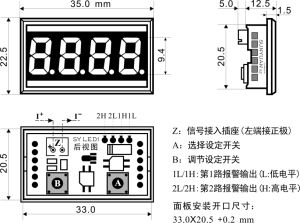 Passive 4-20mA Display Panel Meter pictures & photos