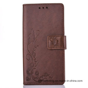 Embossed Leather Wallet Case for Samsung S8/S8plus/S7/S7 Edge/Note 5/S6/S6 Edge etc pictures & photos