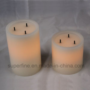 Big Wick Wax LED Flameless Soft Glittering Holiday Ornamental Wax LED Candles Electric pictures & photos
