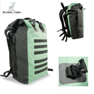 Outdoor Green Waterproof Hiking Bag with Shoulder Straps pictures & photos