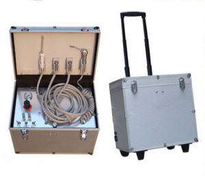 High Volume Portable Dental Units with Curing Light and Scaler pictures & photos