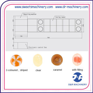 Hard Candy Making Machine Depositing Production Line pictures & photos
