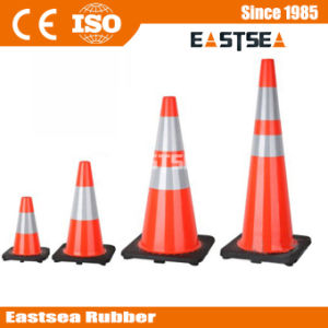 Orange/Yellow/ Lime Green Flexible PVC Road Safety Traffic Cone pictures & photos