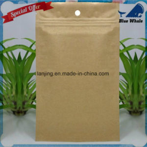 Lj1-215 Kraft Paper Ziplock Bag Moistureproof Compound Aluminum Foil Bags pictures & photos