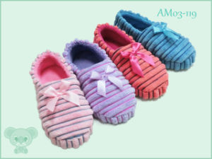 Soft Mock Suede Children′s Shoes Indoor Slipper pictures & photos