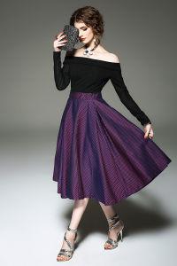Women′s Elegant Vintage Ruched off Shoulder Party Boat Neck Dress pictures & photos