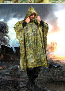 Multifunctional Military Tactical Traning Sports Travel Camping Raincoat pictures & photos