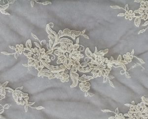 Sequins Voile Embroidery Fabric for Evening Bridal Wedding Dress pictures & photos