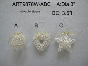 "3.5""H Crochet Heart Tree Ornaments-Christmas Decoration pictures & photos"
