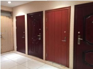 Steel-Wood Composite Security Interior Door with UL Certificate
