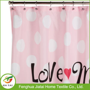 Cheap Fabric Shower Curtains Pink Monogrammed Shower Curtain pictures & photos