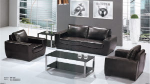 Elegant Black Office Sectional Couch with Steel Foot pictures & photos