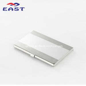 Hot Slae Custom Logo Silver Metal Business Card Holder pictures & photos