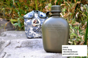 Army Camo Cover Aluminum Cup Military Water Bottle pictures & photos