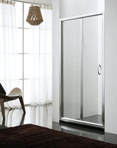 Bi-Fold Shower Door Screen Bathroom Shower Enclosure Tempered Glass Shower Room Bathroom Furniture 6mm Tempered Glass Door for Small Bathroom pictures & photos