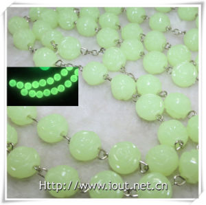 Rose Rosary Photo Connector Luminous Plastic Big 20mm Bead Necklace (IO-cr380) pictures & photos
