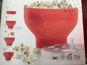 Platinum Silicone Microwave-Safe Plastic Popcorn Container Popcorn Bowl pictures & photos