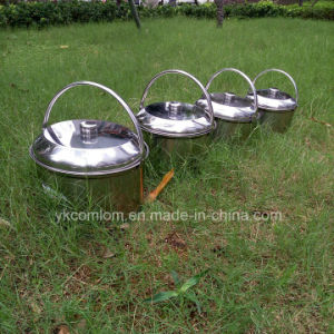 4 Pieces One in One Stainless steel Outdoor Cookware Set / Camping Hanging Pot Set pictures & photos