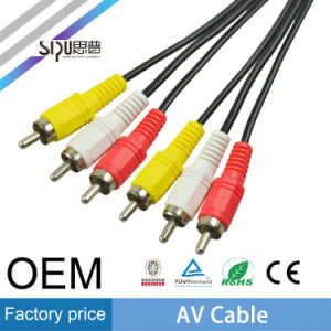 Sipu Audio Video 2RCA to 2RCA Plug Male AV Cable pictures & photos