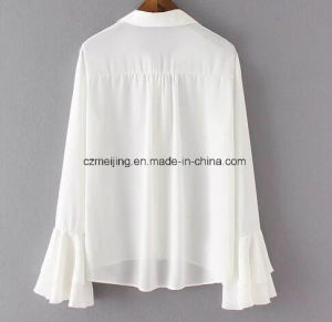 White Women`S Chiffe Shirt