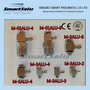 SMC Type M-3au-4 Pneumatic Air Fitting M3 Thread Hose Barb Connector for 4mm Tube Mini Type Connector pictures & photos